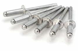 """Aluminum Pop Rivets 1/8#4 Blind Rivets 4-4, 1/8"""" x 1/4"""" Grip 0.188-0.250... - $35.14"""