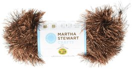 Lion Brand Yarn 5800-526 Martha Stewart Glitter Eyelash Yarn, Brownstone - $12.53 CAD