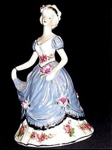 Figurine Dressed for the Ball in a Silver Gown AB 748 Vintage - $69.25