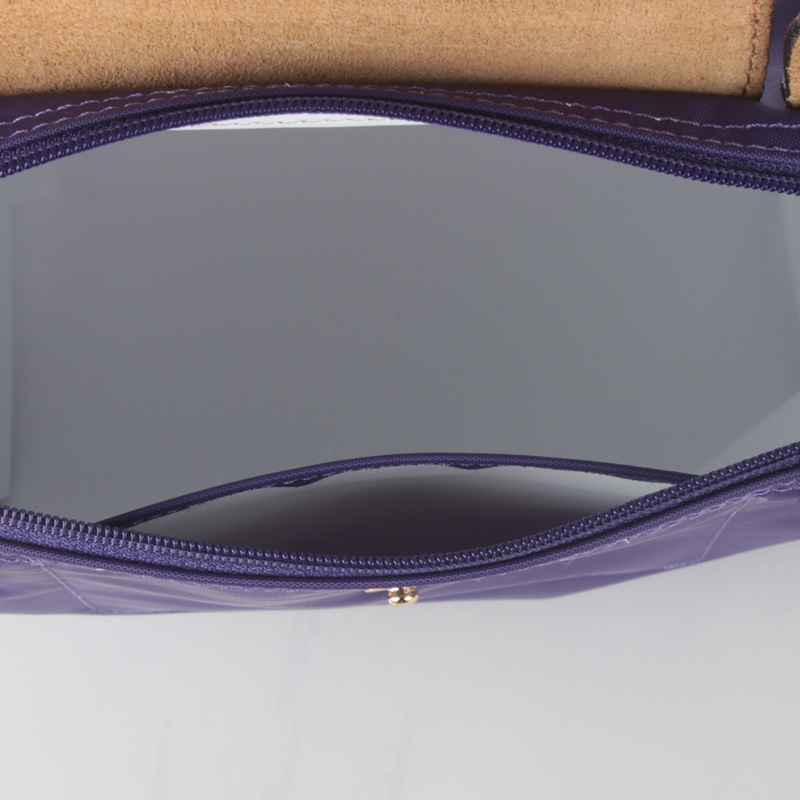 Longchamp Le Pliage Small Short Handel Nylon Handbag Amethyst 1621089958