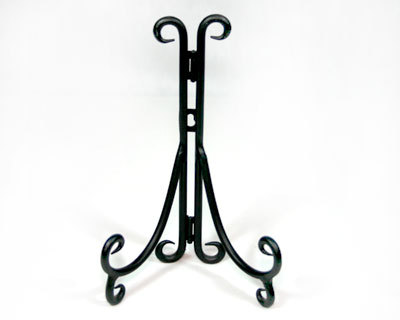 Small Black Metal Plate Stand or Easel - $9.99  sc 1 st  Bonanza : metal plate holder stand - pezcame.com