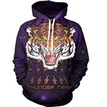 Powerful Tiger Roar Thunder Trap Predator Galaxy Design Hoodie - $55.00