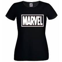 Marvel Logo, Marvel Comics T-shirt,100% Cotton,Ladyfit women - £11.44 GBP - £14.74 GBP