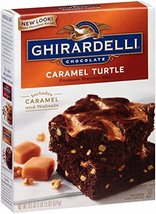 Ghirardelli Chocolate Caramel Turtle Brownie Mix, 18.5-Ounce Boxes (Pack of 12) - $43.55