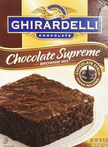 Ghirardelli Chocolate SUPREME Brownie Mix (Pack of 2) 18.75 oz Boxes - $11.38