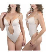 Thong Back Backless Body Shaper Convertible Underwire Padded Push Up Bra - $13.99+