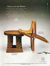 Hermes Paris 1995 Ad Objects of the World Furniture - $12.99