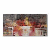 Abstract Oil Painting on Canvas Modern Wall Art Contemporary Picture Dec... - $110.49