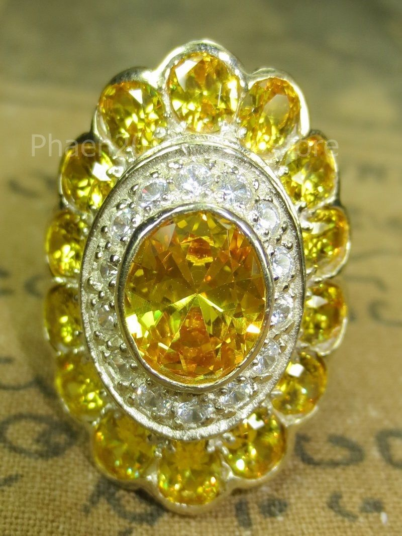 Primary image for Blessed Magic Yellow Gem Stone Ring Super Charm Power Thai Buddha Amulets Ama005