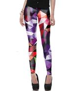 Gorgeous LEGGINGS Yoga Pants Athletic Workout Leggins Turquoise Purple Pink Blue - $14.99