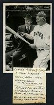 #2045----1942 Honus Wagner + Claude Ritchey photo w/provenance - Pitt Pi... - $350.00