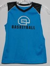 Nike Basketball Tank Toy Boys Size 7 Sleeveless Logo Athletic T-Shirt Blue Black - $14.80