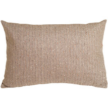 Pillow Decor - Herringbone Brown Rectangular Decorative Toss Pillow - £38.12 GBP