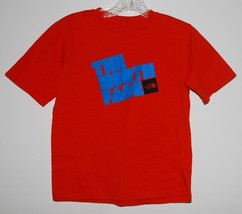 The North Face Shirt Boys Short Sleeve T-Shirt Red Blue Logo Small S 7/8... - $14.80