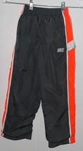 Nike Boys Athletic Pants Gray Orange White Size 6 Logo Sports Pant Elast... - $24.70