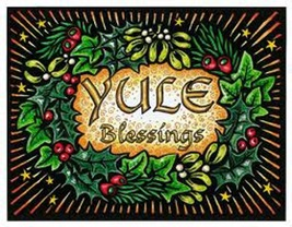 HAUNTED BLESSED CHRISTMAS YULE ornament brings peace happiness calms nerves - $29.77