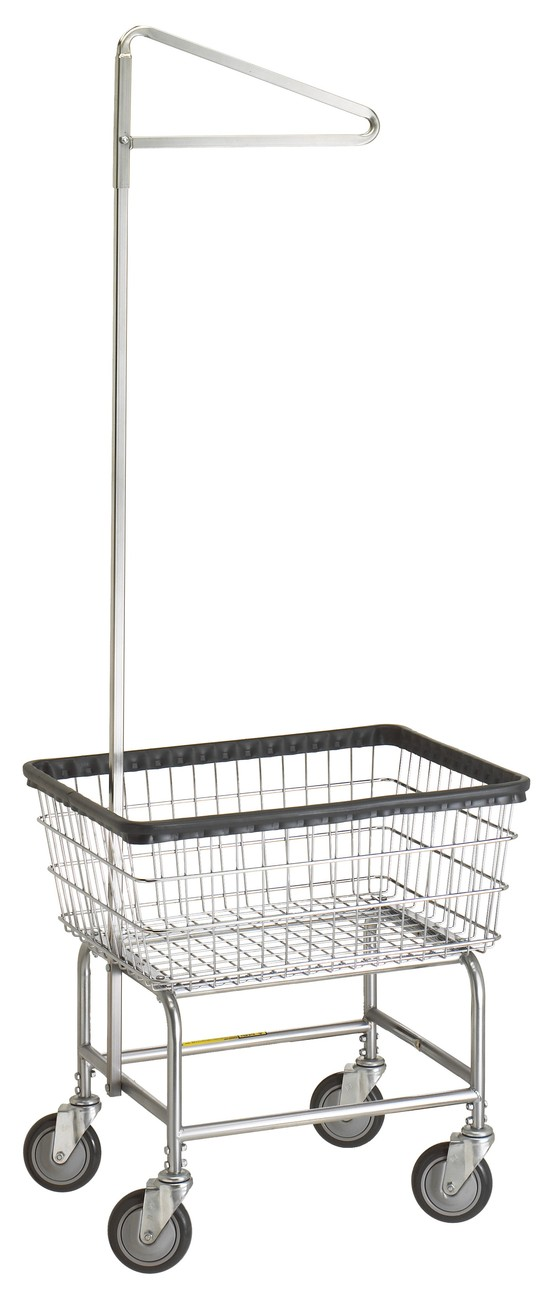 Narrow Laundry Cart w/ Single Pole Rack Model Number 100D91
