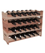 Stained Redwood Wine Racks America 24 Bottle Mini Scallop - $146.50