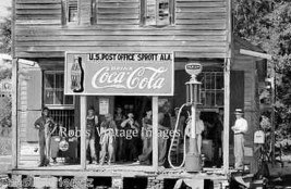 Coca Cola Gas Station Advertising Sign Vintage photo print Sprott. Al 19... - $17.81