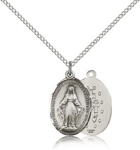 MIRACULOUS MEDAL - Sterling Silver Medal  - 0015 - $53.99