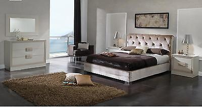 ESF Furniture Dupen Miriam Formal Ivory Queen Storage Bed Made In Spain