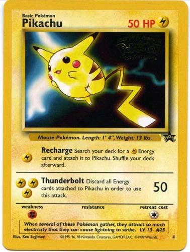 Pokemon 1st Movie Set 4 cards Pikachu - Mewtwo - Electabuzz - Dragonite MINT