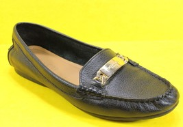 Coach Womens 8B 38 Eu Olive Black Pebbled Leather Loafer Flat Driving Shoe A7751 - $28.84