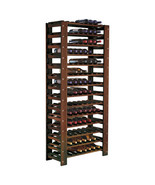 Wine Rack Wood Liquor Bar Bottle Holder Storage Display Floor Furniture ... - $581.99