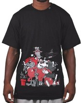 LRG Mens Black White Natural Drugout Kids Weed Smoking Animals T-Shirt NWT