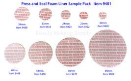 Pressure Sensitive Liners Tamper Leak Proof Container Sealers Sample Pac... - $15.95