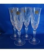 Set of 4 Cristal  De Flandre Salburg Champagne Flutes   - $12.99