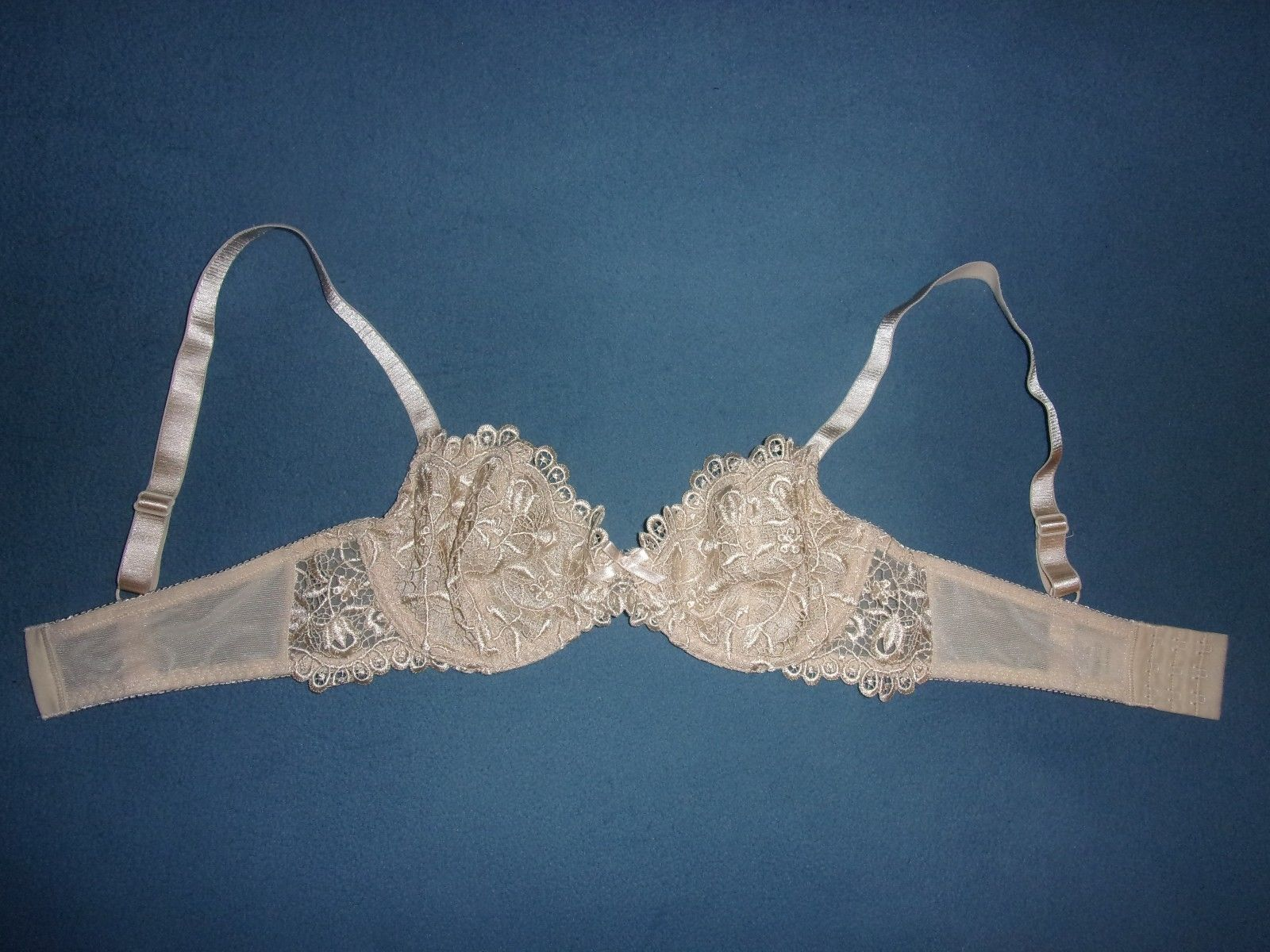 ced92bb7f6aa3 32B Barely Breezies Crochet Lace Underwire Bra with UltimAir Lining A75521  -  17.55