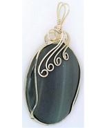 Silver Sheen Obsidian Silver Wire Wrap Pendant 27 - $34.99