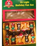 New  Vintage Set of 10 Looney Tunes Christmas Novelty Lights Set - $29.69