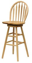 Wooden Swivel Bar Stools 30 Inches With Back Kitchen Patio - $131.49