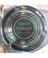 Round Glass Smith Insurance Advertising Ashtray Marcus Remsen IA - $1.99