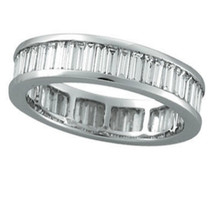 1.35 Ct Real Diamonds Eternity Wedding Band In 14 Kt Solid White Gold - $699.00