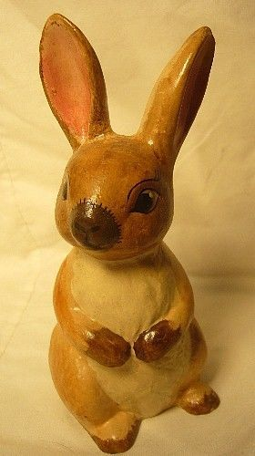 Vaillancourt Folk ArtHe Bunny Brown Easter Personally signed by Judi
