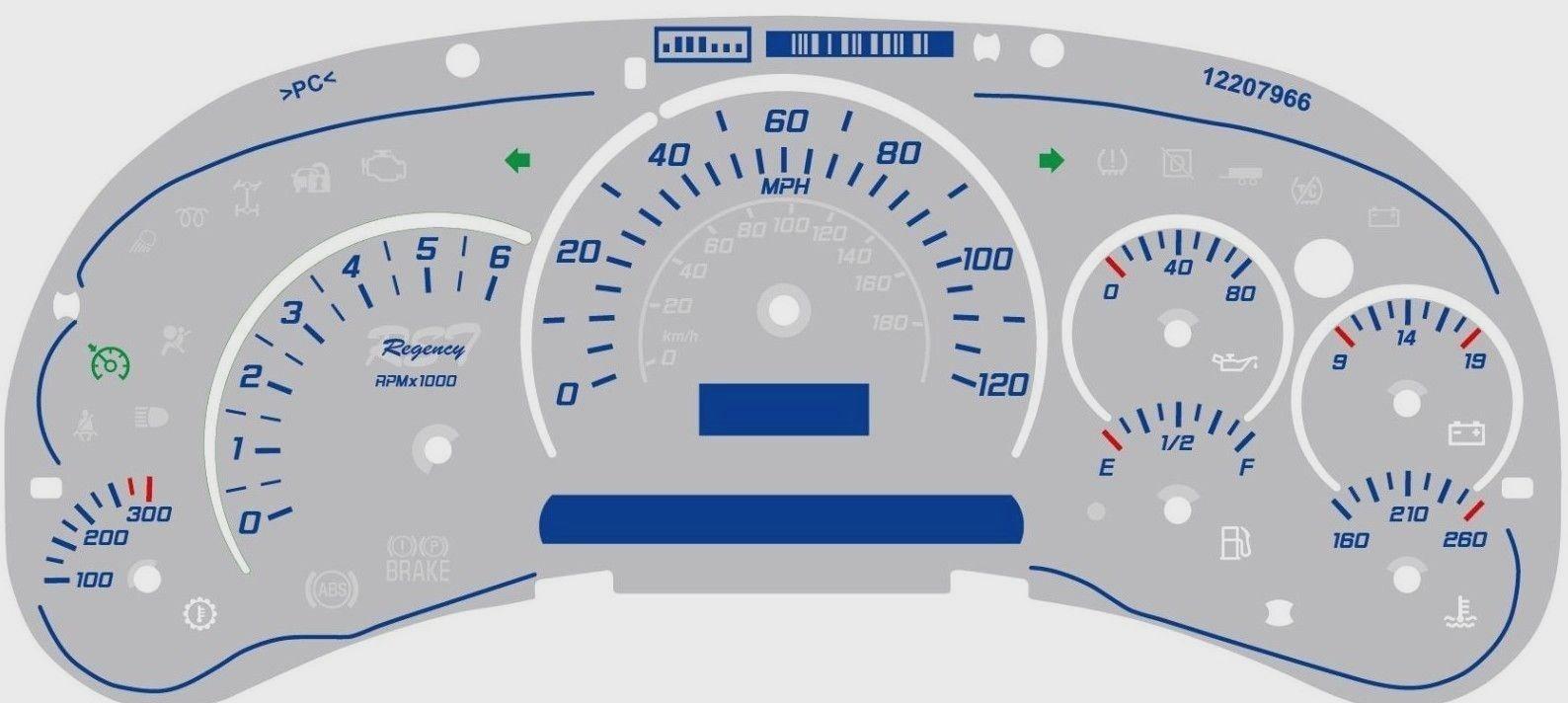 7 pc GM Chevy Instrument Cluster Stepper Motor Speedometer Gauge MR1108 X27168