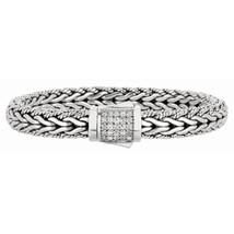 Phillip Gavriel Sterling Silver Woven White Sapphire Bracelet - £413.56 GBP