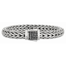 Phillip Gavriel Sterling Silver Woven Black Sapphire Bracelet - £413.56 GBP