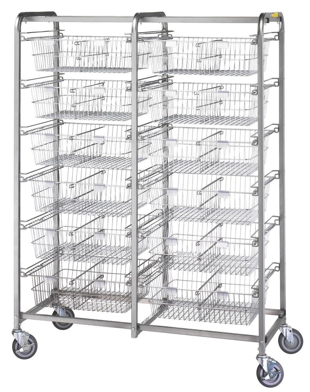 Twelve Basket Resident Item Cart Model Number 1012