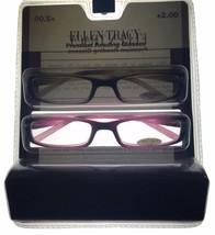 Ellen Tracy ET3042 Womens Readers 2 Pack Rectangle Brown/Pink/Cream Plas... - $22.49