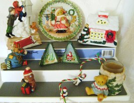 Cherished Teddy Christmas Collectible Lot - $12.00