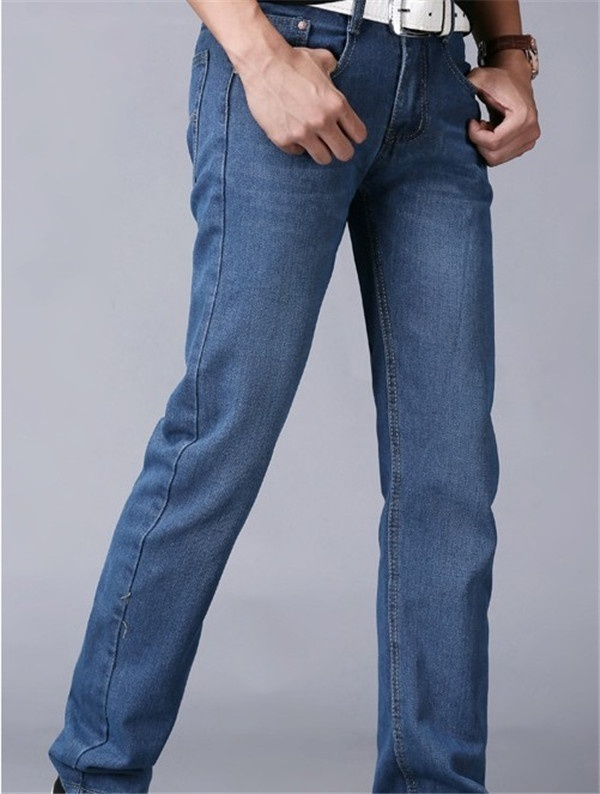 Men's fashion classic wash jeans image 9