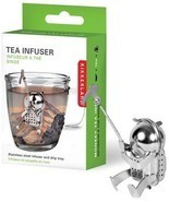 Cliff Climber Tea Infuser Loose Leaf Leaves Stainless Steel Steeper Stra... - $13.74