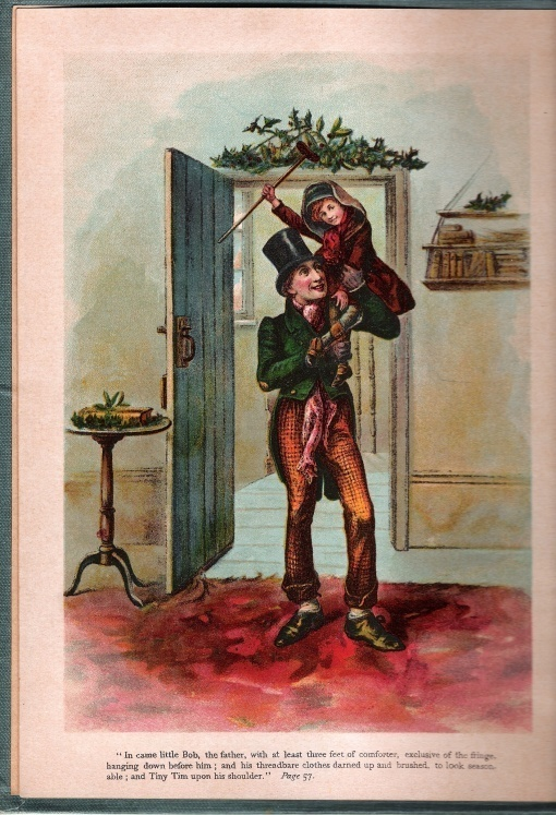 A Christmas Carol and The Holly Tree by Charles Dickens McLoughlin Bros ca 1900