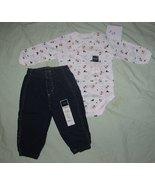 Sonoma Sz 12 Mo. Denim Jeans and Snowman Onesie NWT - $18.99