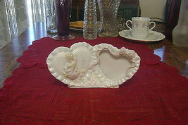 1993 Precious Moments Enesco To Thee With Love Double Heart Picture Fram... - $6.44