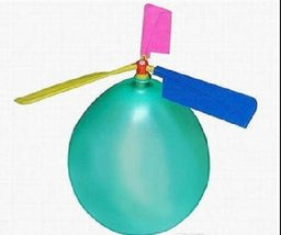 Colorful Balloon Helicopter Aircraft Flying Toy - One Item w/Random Color and... image 5